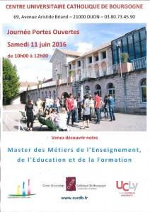 Affiche JPO Master MEEF 11-06-16