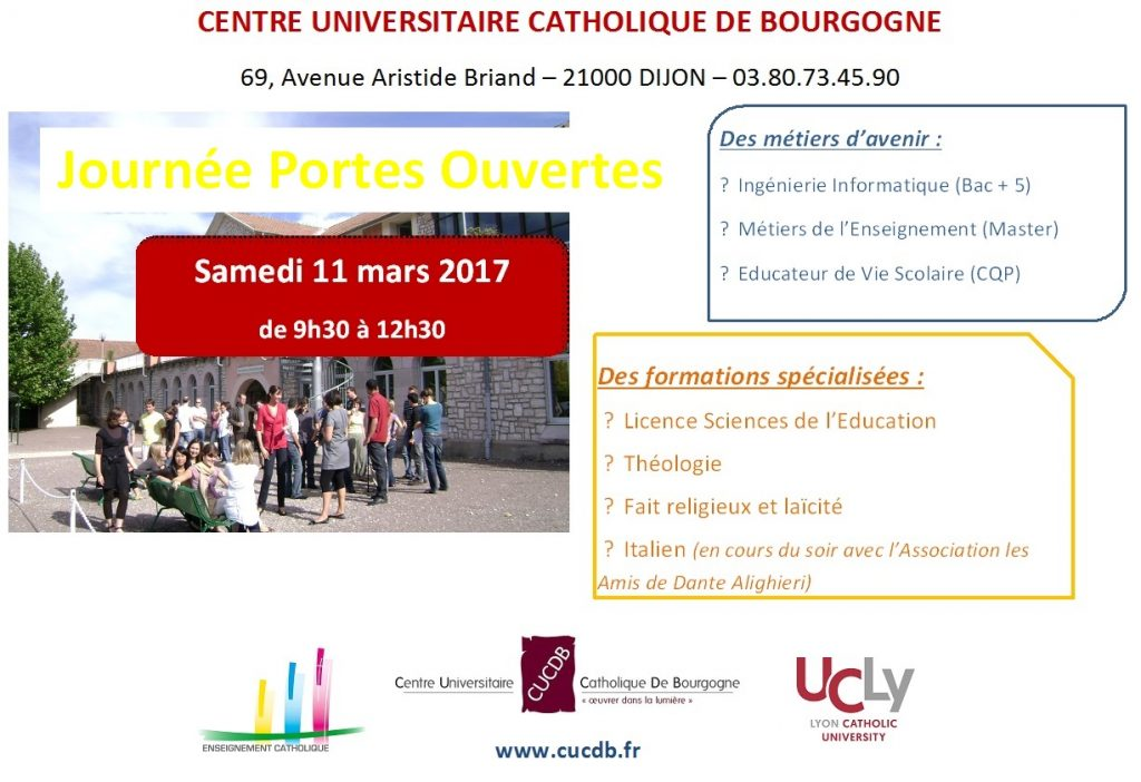 Journée Portes Ouvertes – 11 mars 2017