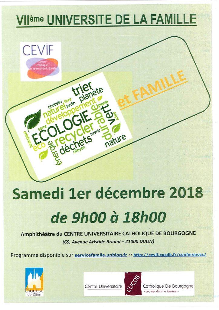 Universités de la Famille – 01/12/2018
